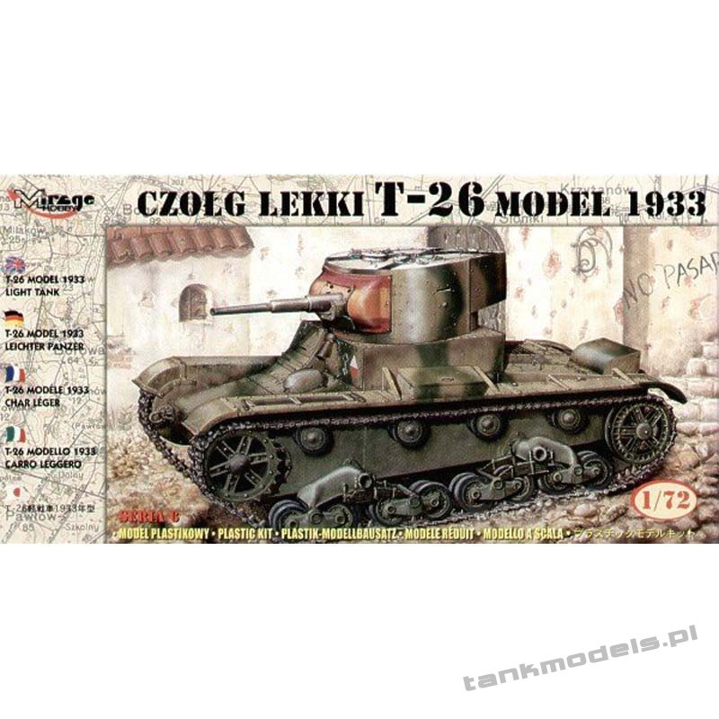 T-26 model 1933 'Spanish Civil War' - Mirage Hobby 726009