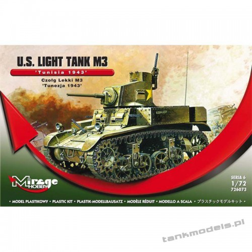 M3 Stuart 'Tunezja 1943' - Mirage Hobby 726073