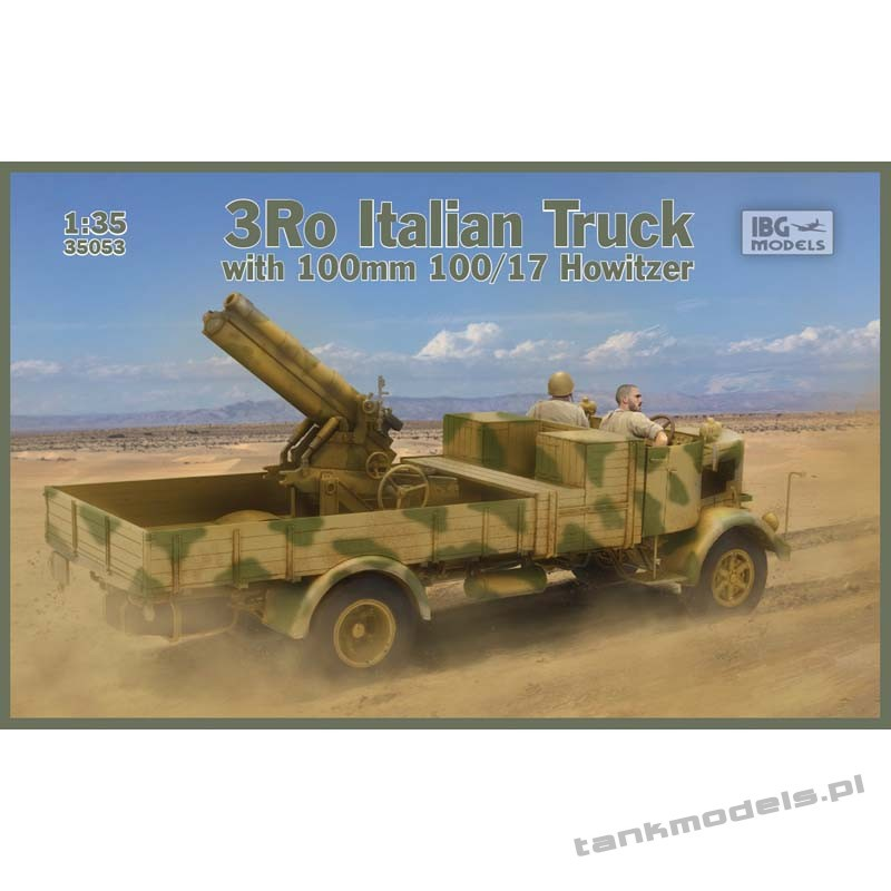 3Ro Italian Truck with 100/17 100mm Howitzer - IBG 35053