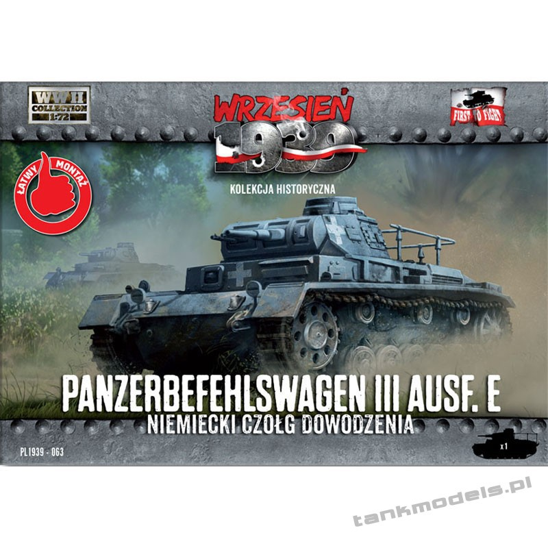 Panzer III Ausf. E command tank - First To Fight PL1939-63