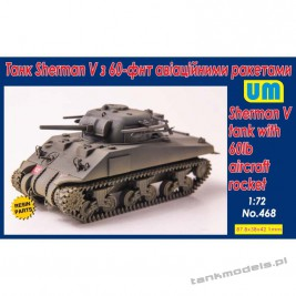 Sherman V tank with 60lb aircraft rocket - Unimodels 468