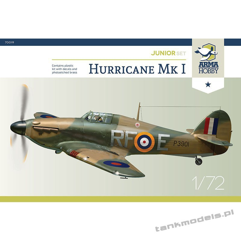"Hurricane Mk I ""Bitwa o Anglie"" (junior set) - Arma Hobby 70020"