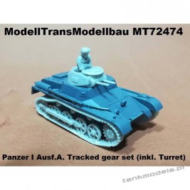 Panzer I Ausf.A. Tracked gear set (inkl. Turret) For FtF - Modell Trans 72474