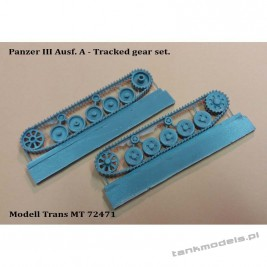 Panzer III Ausf. A Tracked gear set - Modell Trans 72471