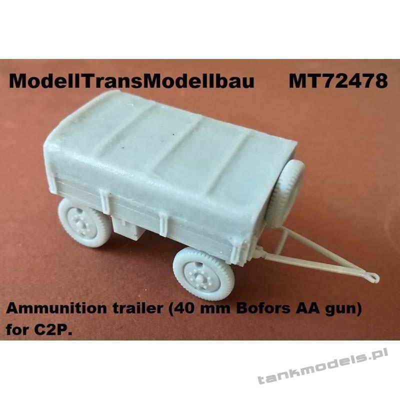 Ammunition trailer (40 mm Bofors AA gun) for C2P - Modell Trans 72478