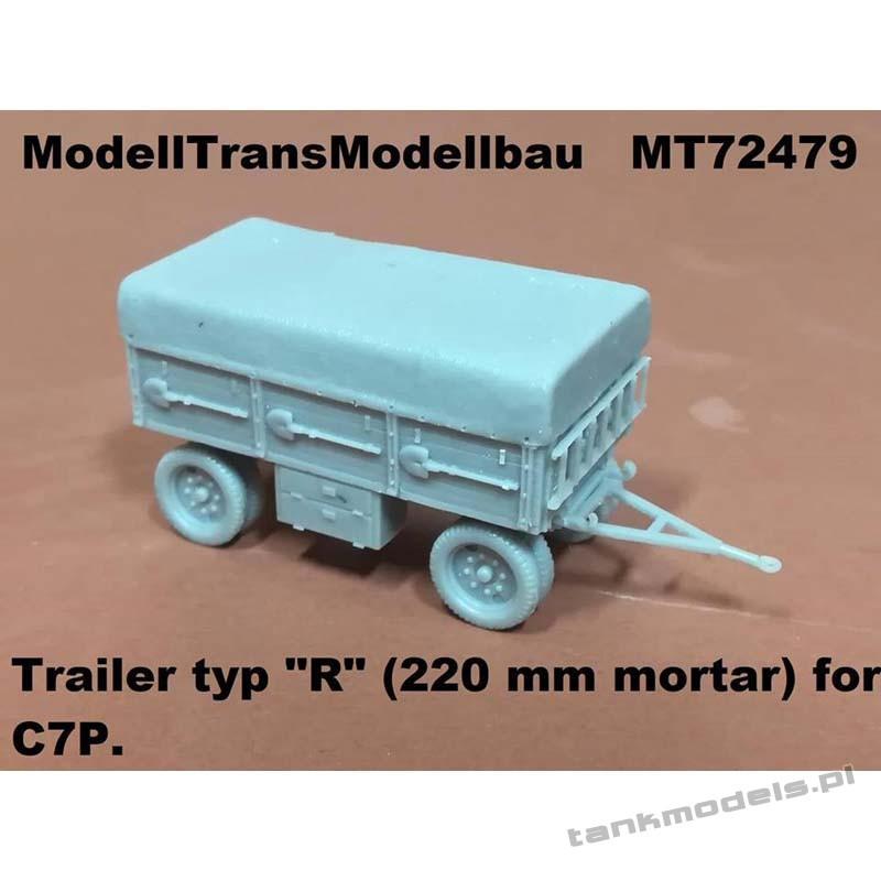 "Trailer typ ""R"" for mortal 220mm for C7P - Modell Trans 72479"