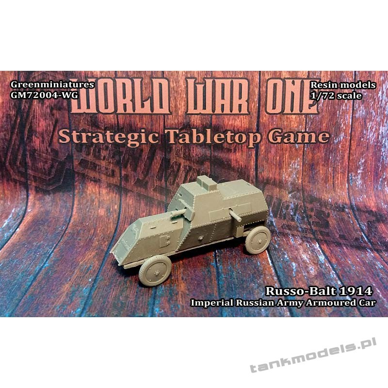 Russo-Balt 1914 armoured car - Greenminiatures 72004-WG