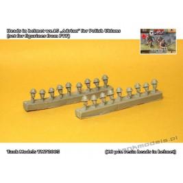 "Heads in helmet wz.15 ""Adrian"" for Polish Uhlans (set for figurines from FTF) - Tank Models 72005"