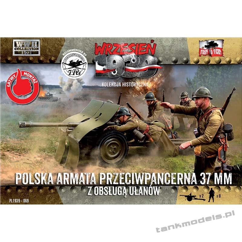 Polish AT gun 37mm Bofors w/crew Polish uhlans - First To Fight PL1939-69