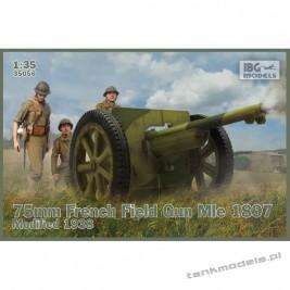 Schneider 75mm Mle 1897 French Field Gun Modified 1938 - IBG 35056