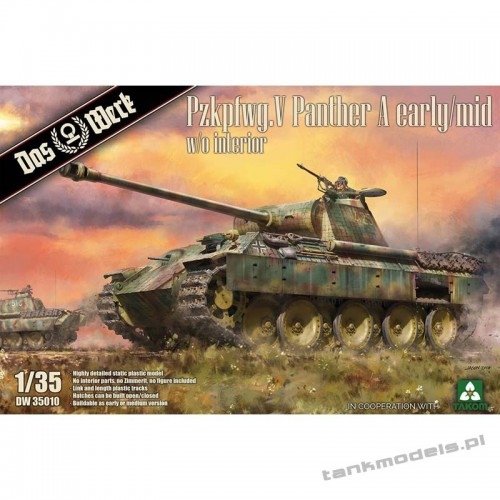 Panzer V Ausf. A Panther early/mid w/interior - Das Werk DW35010