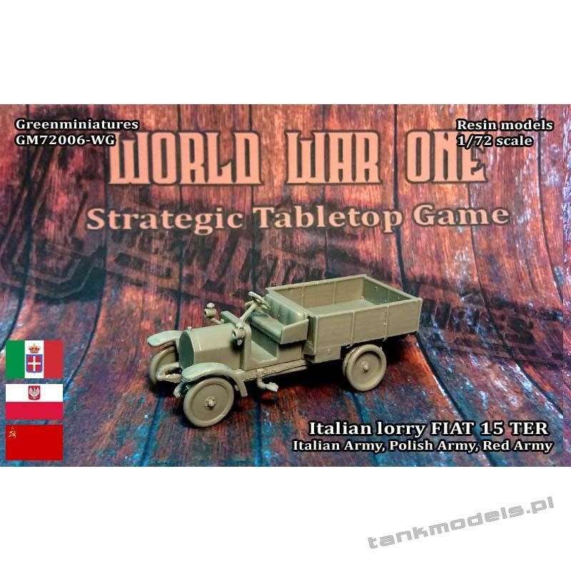 FIAT 15 ter Italian Army Lorry - Greenminiatures 72006-WG