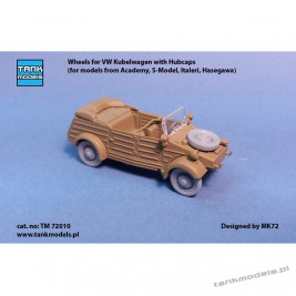 Wheels for VW Kübelwagen with Hubcabs - Tank Models TM 72010