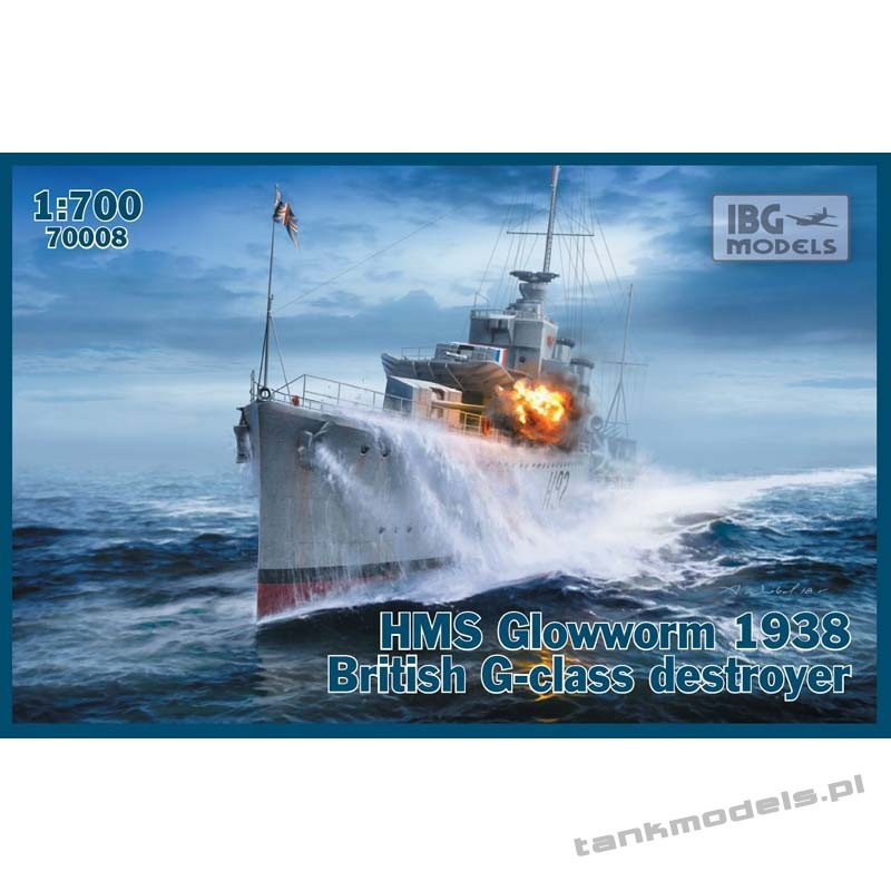 HMS Glowworm 1938 British G-class destroyer - IBG 70008