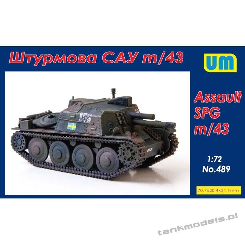 Sav m/43 Self-propelled Gun - Unimodels 489