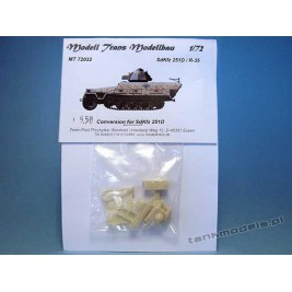 Sd.Kfz. 251 with R-35 Turret (for Hasegawa) - Modell Trans 72032