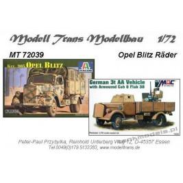 Opel Blitz Wheels (5-hole rim) - Modell Trans 72039