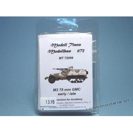 M3 75 mm Gun Motor Carriage early/late (Academy) - Modell Trans 72056
