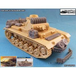 Panzer III stowage set - Modell Trans 72045