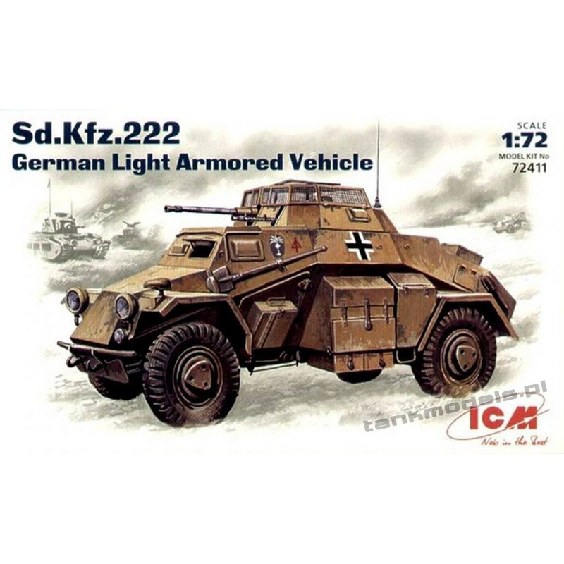 Sd.Kfz. 222 German Light Armoured Vehicle