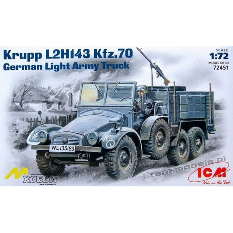 Krupp L2H143 Kfz. 70 German Light Army Truck