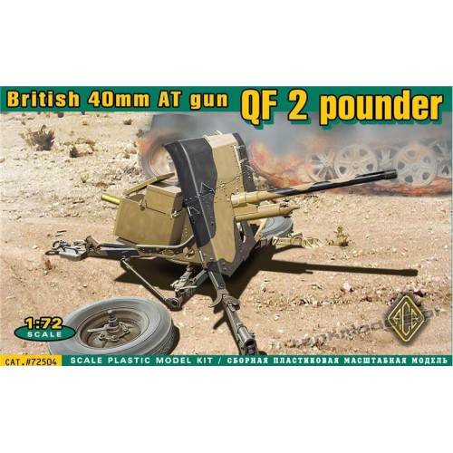 QF 2 pounder British 40mm AT gun - ACE 72504