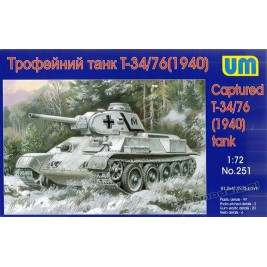 Captured T-34/76 m.1940 (resin parts) - UniModels 251
