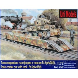 Carrier car with tank Pz.Kpfw 38 (t) - UniModels 259