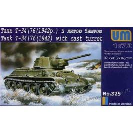 T-34/76 mod. 1942 (cast turret) - UniModels 325