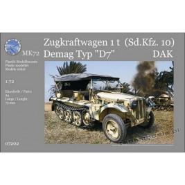 Sd.kfz. 10 1t Demag D7 Afrika Korps - MK72 7202
