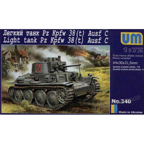 Panzer 38(t) Ausf. C - UniModels 340