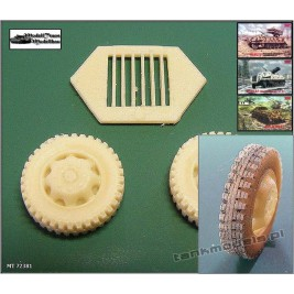 Wheels for Sd.Kfz. 4/1 Panzerwerfer - terrain pattern - Modell Trans 72381