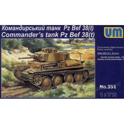 Panzer 38(t) Command Tank - UniModels 351