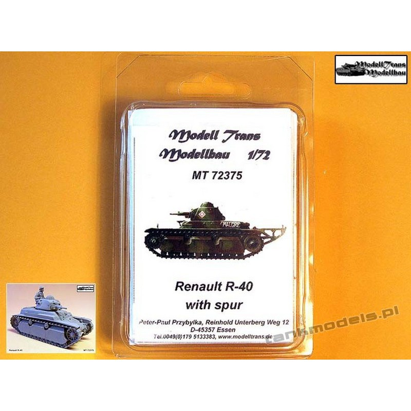 Renault R-40 w/Spur - Modell Trans MT72375