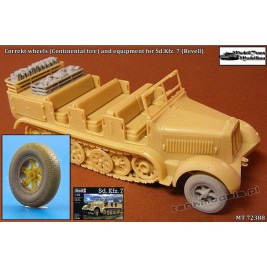 Correct wheels (Continental tire) and equipment for SdKfz.7 (Revell) - Modell Trans 72388
