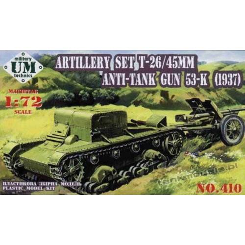 T-26T w/ 45mm AT gun m.1937 (53-K) - UniModels 410