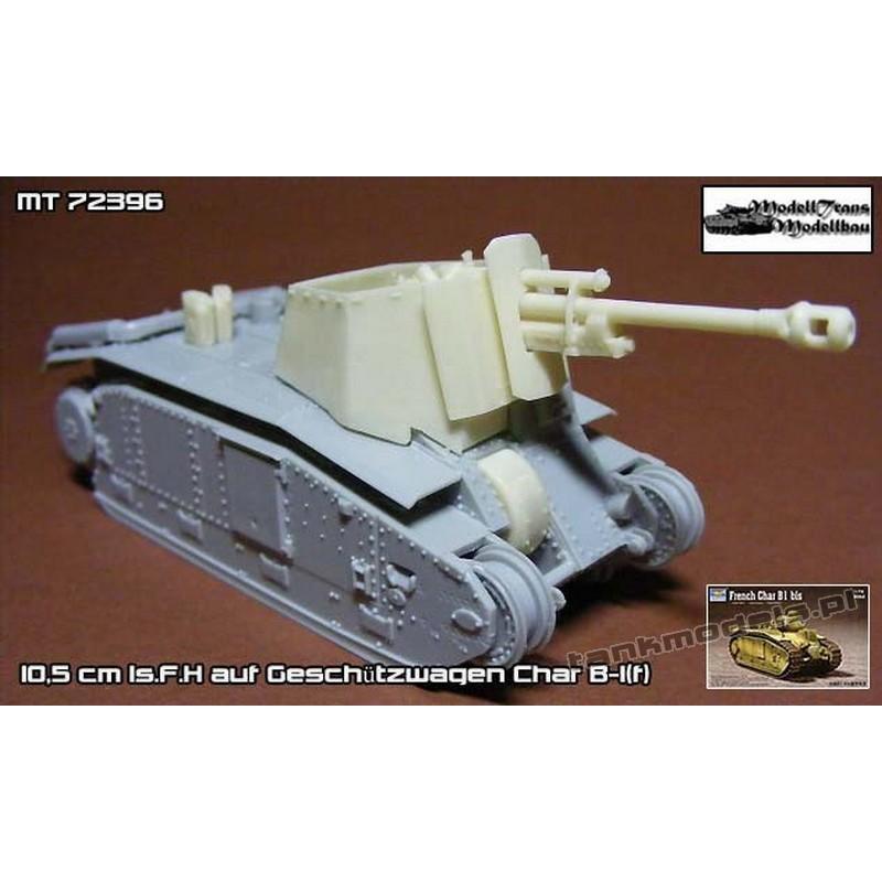 10,5 cm ls.F.H auf Geschützwagen Char B-1(f). (conv. for Trumpeter) - Modell Trans MT72396