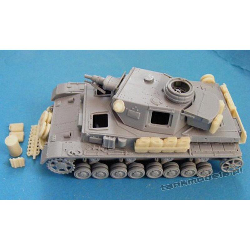 Panzer IV stowage set - Modell Trans 72046
