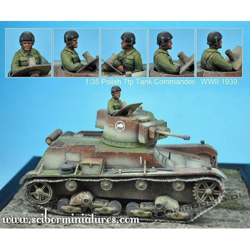 Polish 7TP Tank Commander No.1 - Scibor Miniatures 35002