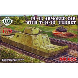 PL-43 with T-34/76 turret - UniModels 622