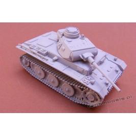"""VK.2001 (D) Panzer III """"Neue Art"""" Panzerwaffe '46 - Modell Trans 72414"""