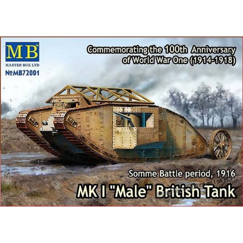 "MK I ""Male"", Somme Battle period, 1916 - Master Box 72001"