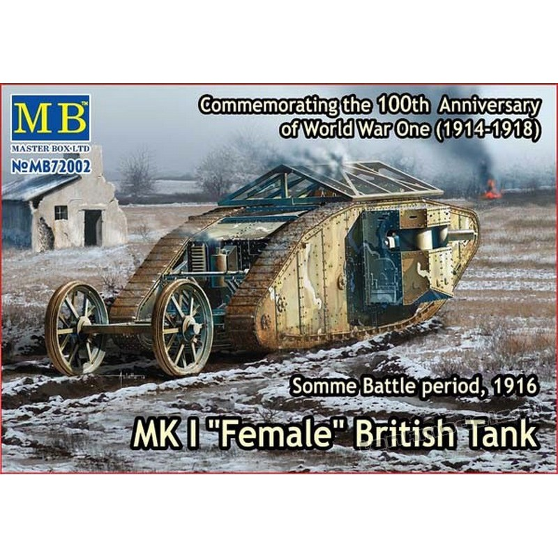 "MK I ""Female"", Somme Battle period, 1916 - Master Box 72002"