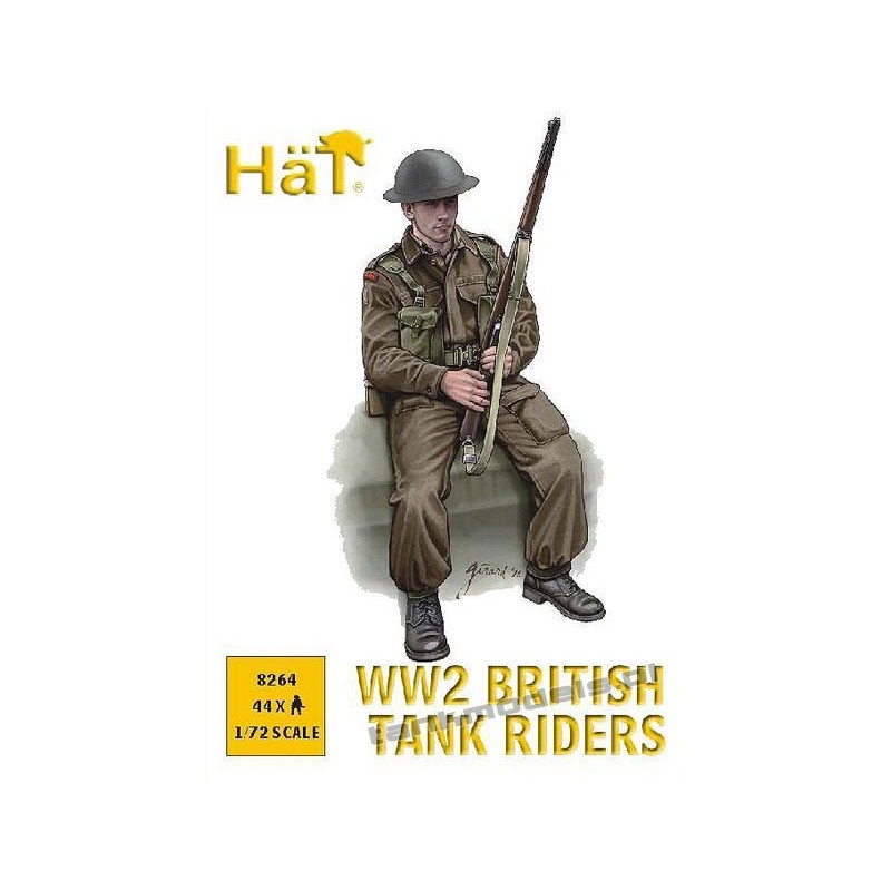 British Tank Riders WW2 - HAT 8264