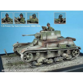 Polish 7TP Tank Commander No.2 - Scibor Miniatures 35004