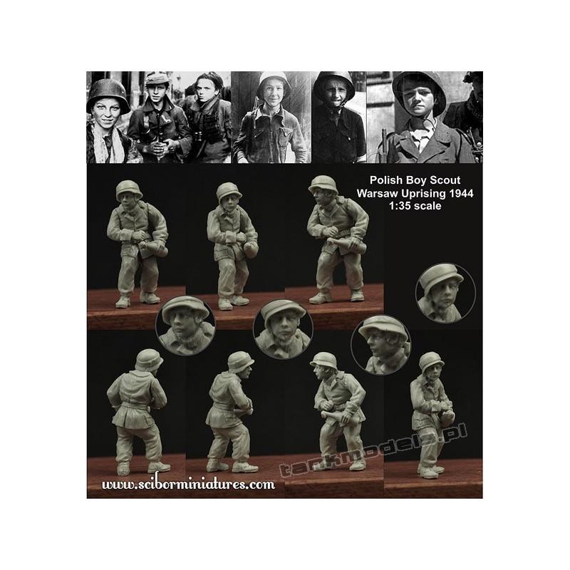 Polish Boy Scout No.1 (Warsaw Uprising 1944) - Scibor Miniatures 35007