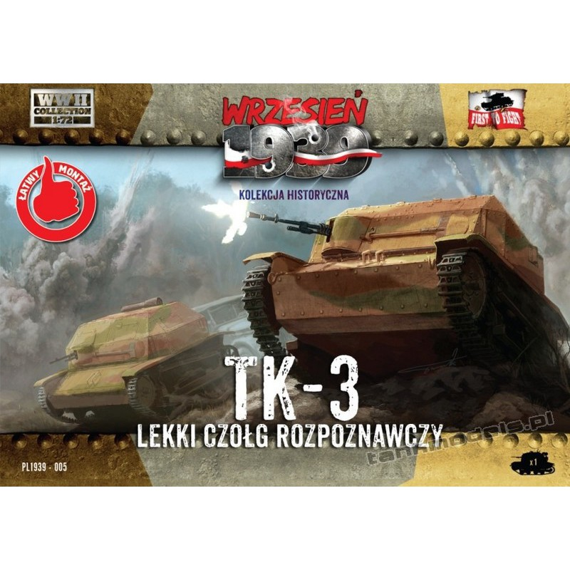 TK-3 Polish tankette - First To Fight PL1939-05