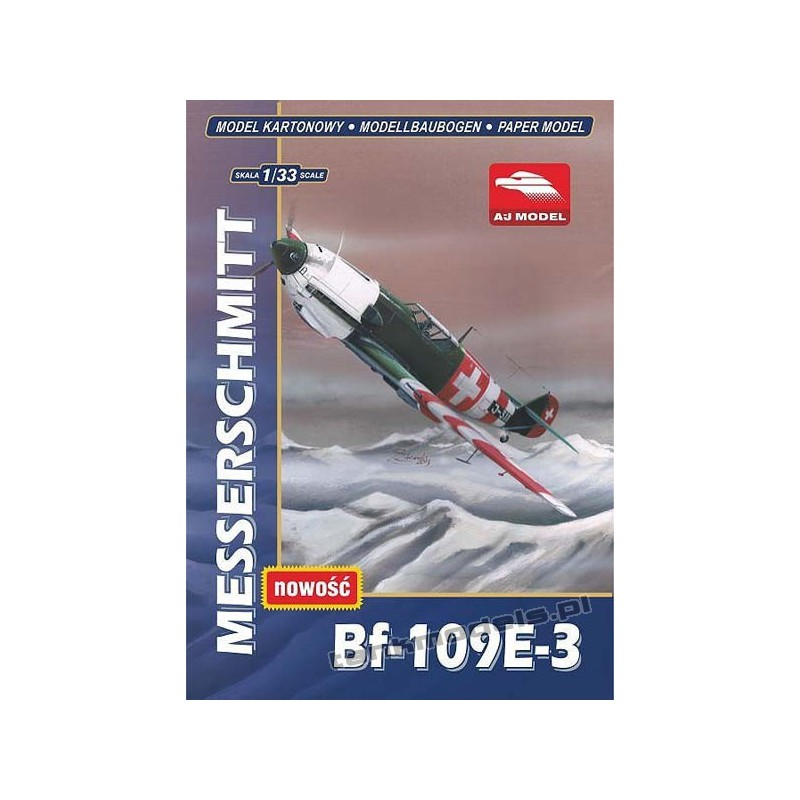 Messerschmitt BF-109E-3 - AJ Model 3303
