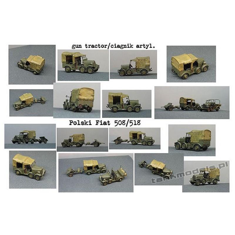 Polish Fiat 508/518 AT Polish gun tractor - Mars 7220.1