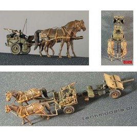 Bofors 37mm AT Gun w/Horse cart - Mars 7222